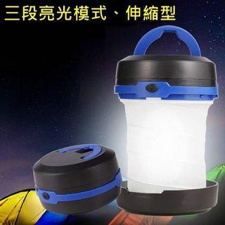 LED 彈簧 伸縮露營燈 防水 折疊 迷你手電筒 帳篷燈