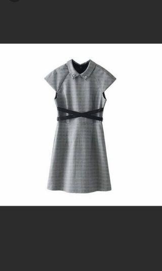 Midi dress warna abu