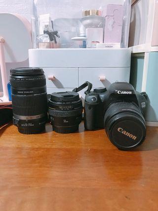 Canon 550d w 3 lenses