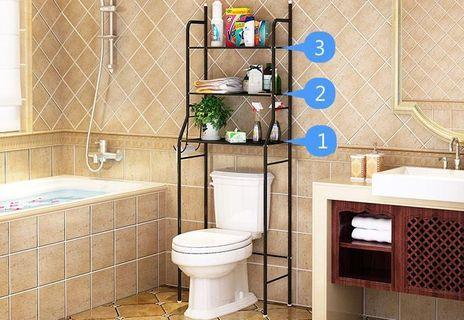 Toilet rack bathroom three-story storage rack