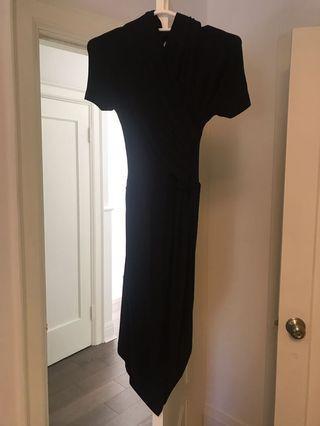 Carven black Bare back dress