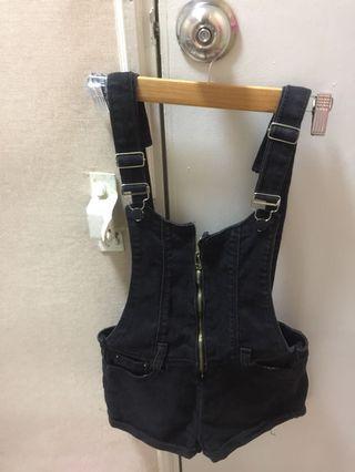 Black Suspender Pant