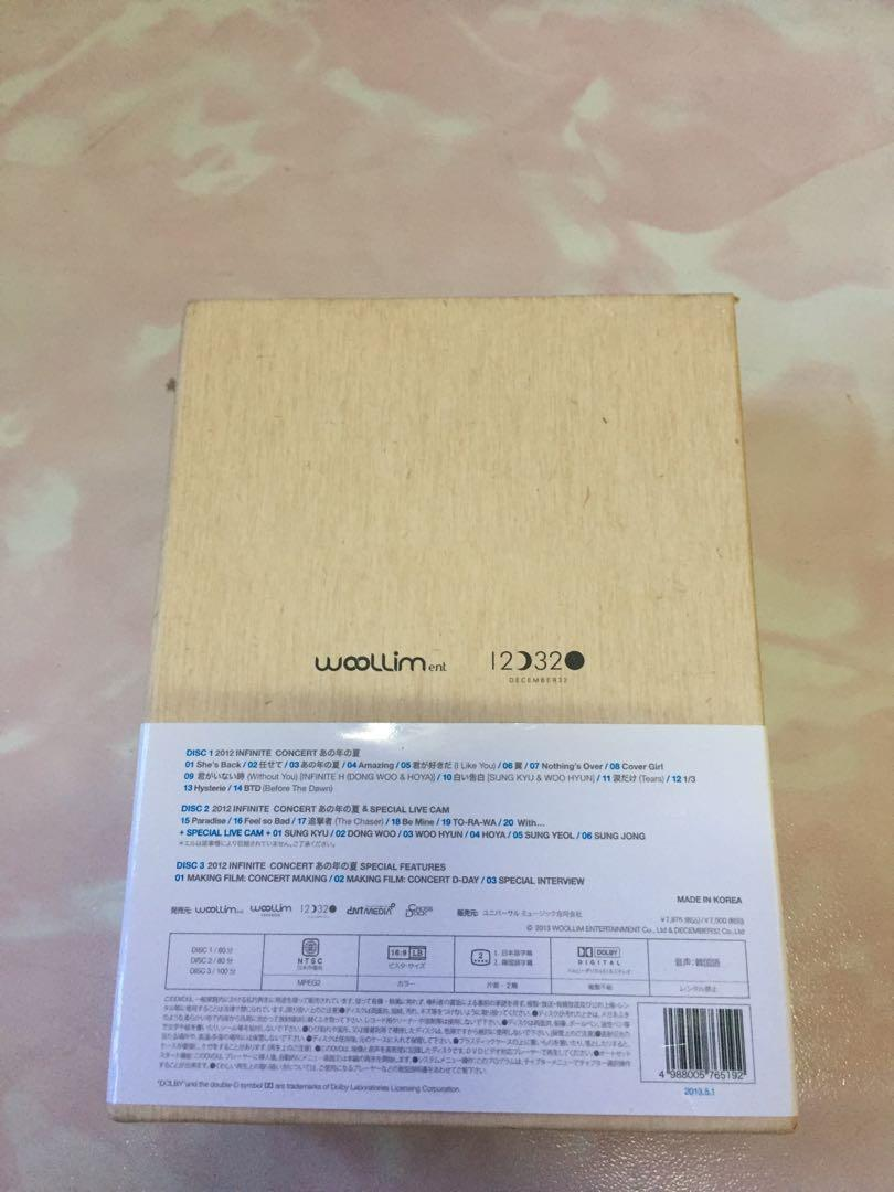 """2012 Infinite Concert """"Ano Toshi no Natsu"""" (That Summer) (Japan Version)"""
