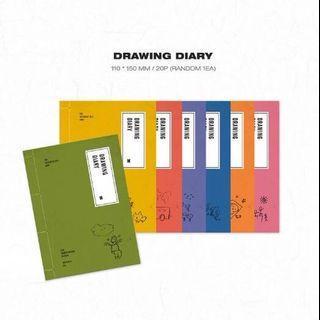 [wtb] bts summer package 2019 drawing diary