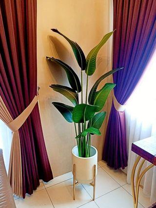 Artificial Banana Leaf Plant