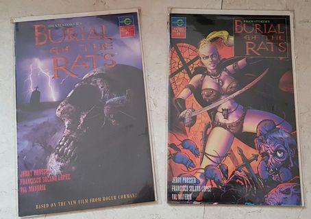 bram stoker burial of the rats #1 #2 roger corman cosmic comics comic comicbook