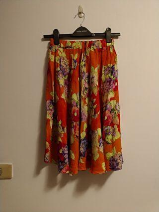 🐡古着-義大利製花裙vintage