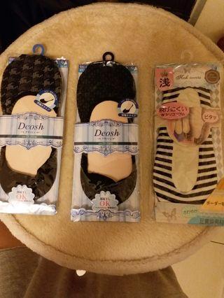 日本防滑隱形襪/3雙一起帶