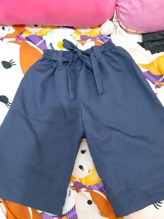 Celana Kulot Navy Biru