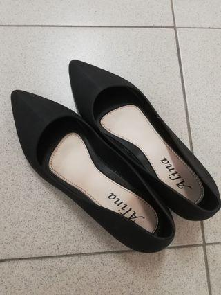 Black Wedges (free delivery) 4cm