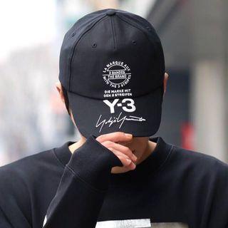 Y-3 Stacked Brand Cap 18ss 刺繡 黑色 老帽 草寫簽名 logo 山本耀司