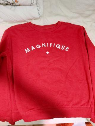 Red Cotton On Embroidered Magnifique Sweatshirt