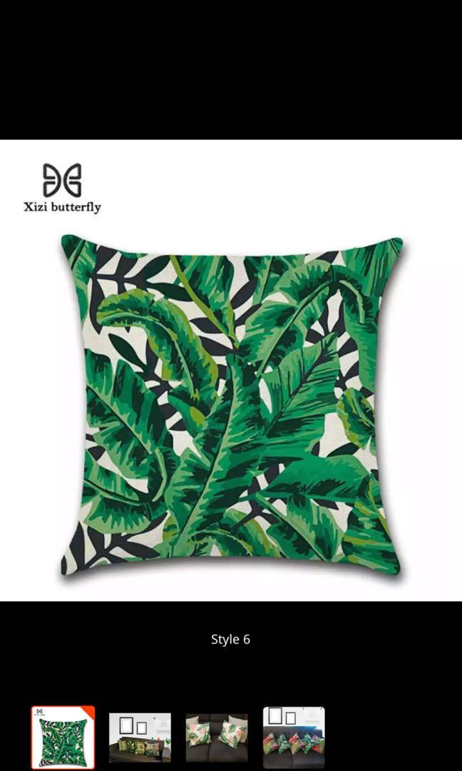 4pcs Pillow Cover Leaves 45cm*45cm