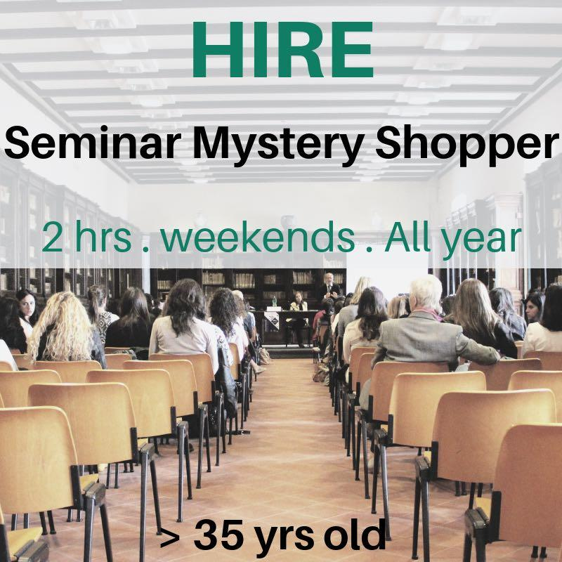 招兼職講座神秘顧客 Part Time Mystery Seminar Shopper