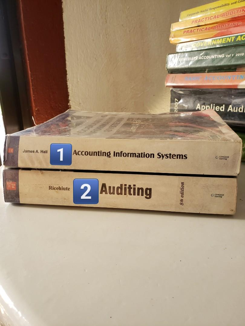 Accounting Information Systems by James A. Hall & Auditing Recehiute 8th Edition