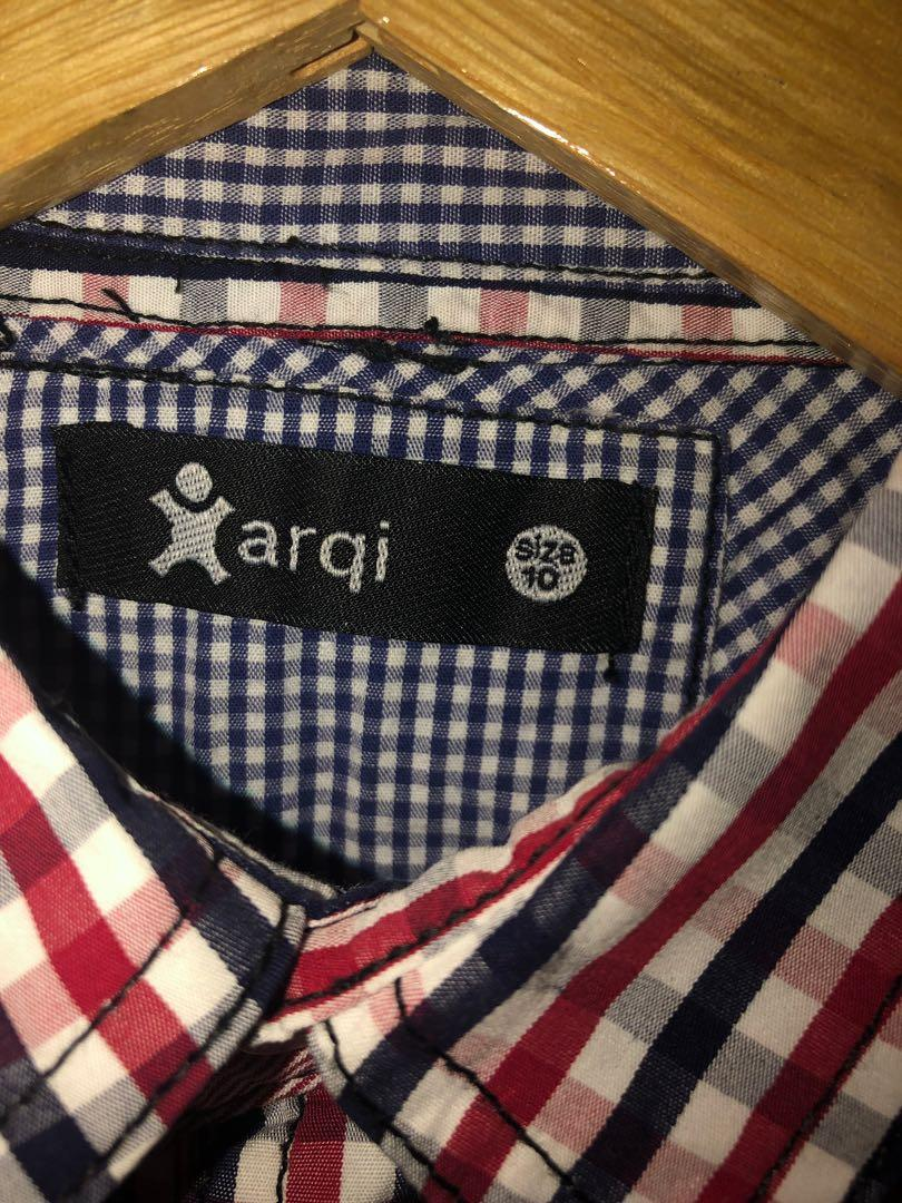 Boys Arqi checkered shirt worn once!! Size 10 (as new)