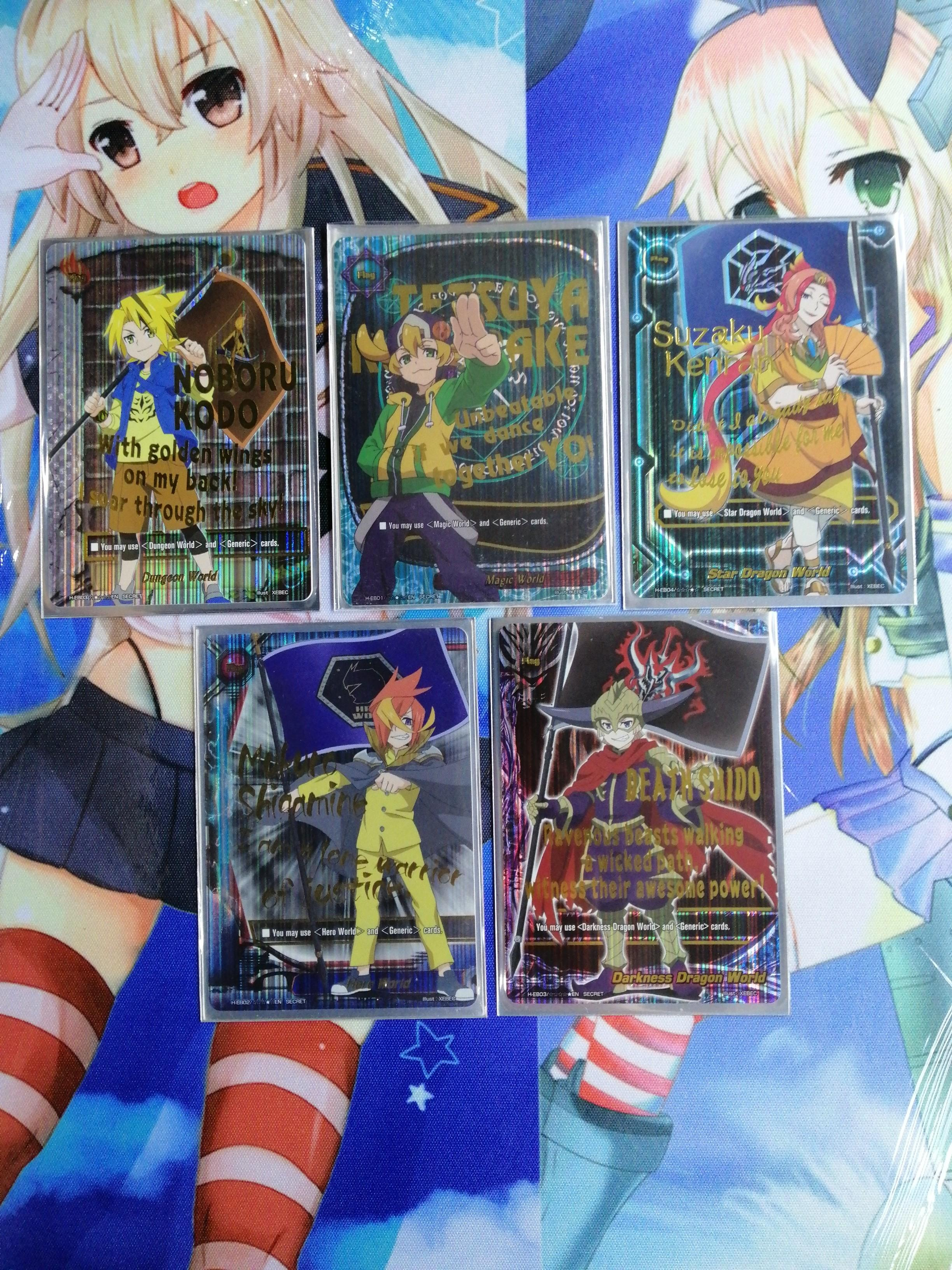 Buddyfight foils HEB secret flags ( SELLING ONLY )