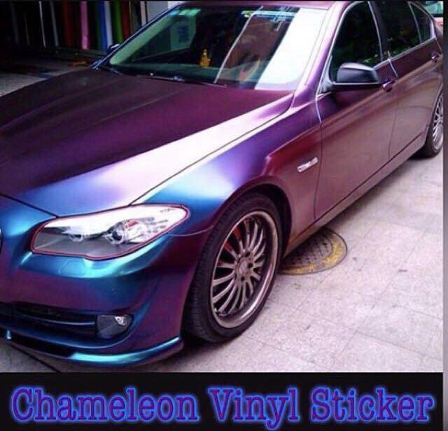 Chameleon vinyl sticker wrap