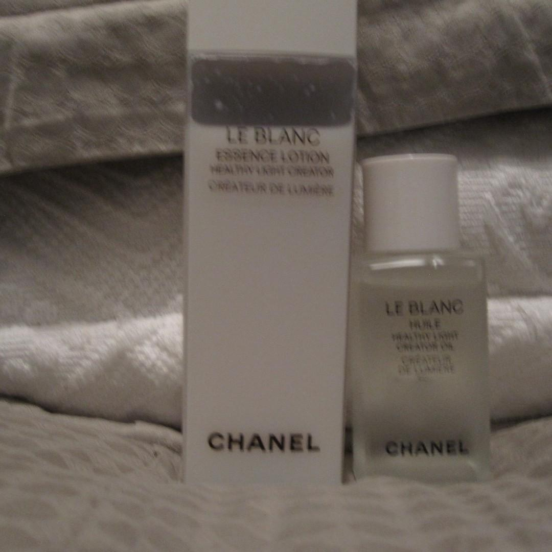 Chanel Le Blanc Healthy Light Creator Essence Lotion and Oil