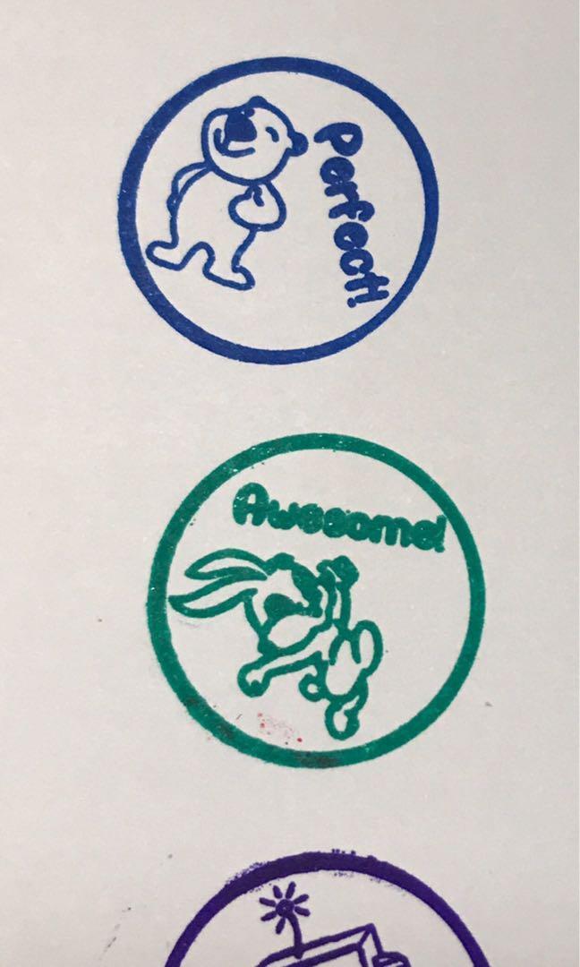 Customised Teacher Encouragement Stamp Or Chops Self Inking