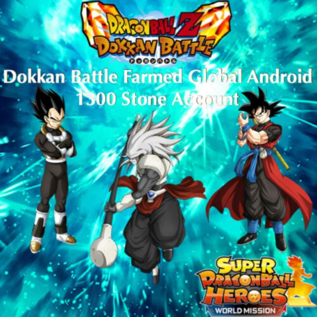 Dokkan Battle Farmed Global Android 1,300 Stone Account