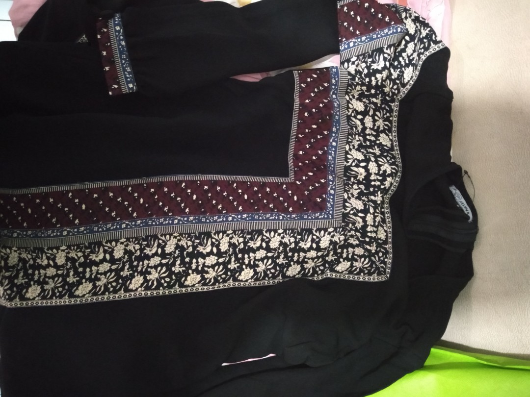 Gamis Javina Fesyen Wanita Muslim Fashion Gaun Di Carousell