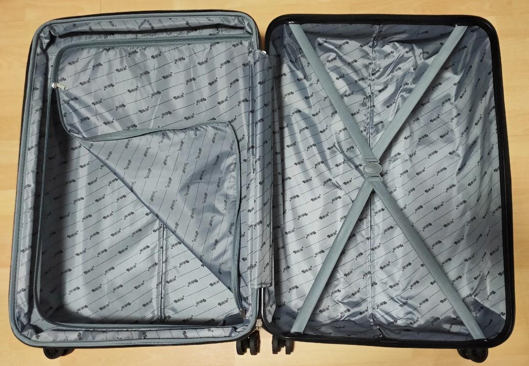 29 inch Greyish blue luggage for sale! Free inflatable u-shape pillow!