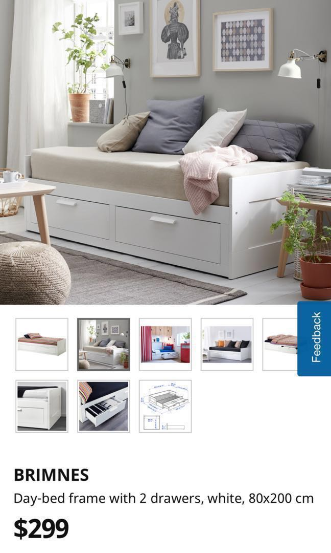 Ikea Brimnes Day Bed With Storage Furniture Beds Mattresses On Carousell