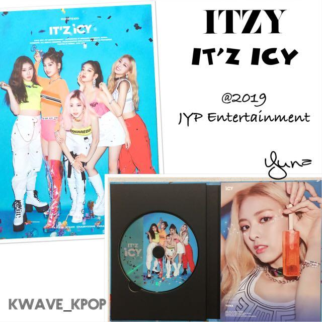 ITZY <IT'Z ICY> IT'Z VERSION - 1 CD Disc + Photo Book (80 pages) + 1st page member YUNA same as pic (NO PHOTO CARDS)
