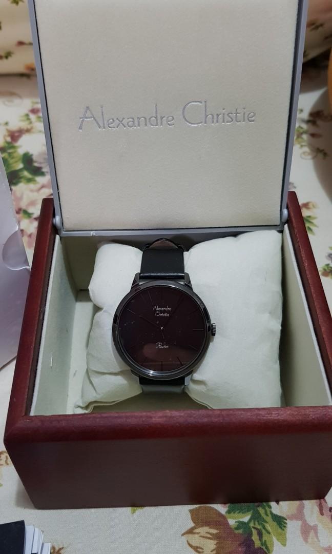 Jam Tangan Hitam Alexandre Christie