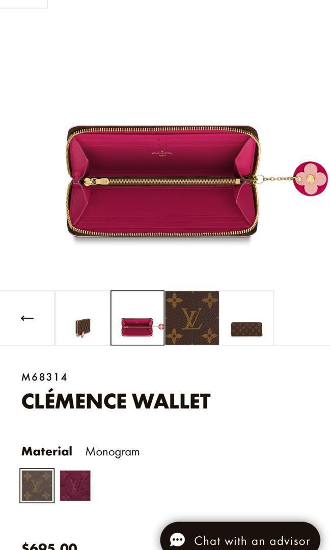 Louis Vuitton Clemence Wallet monogram blooming flowers