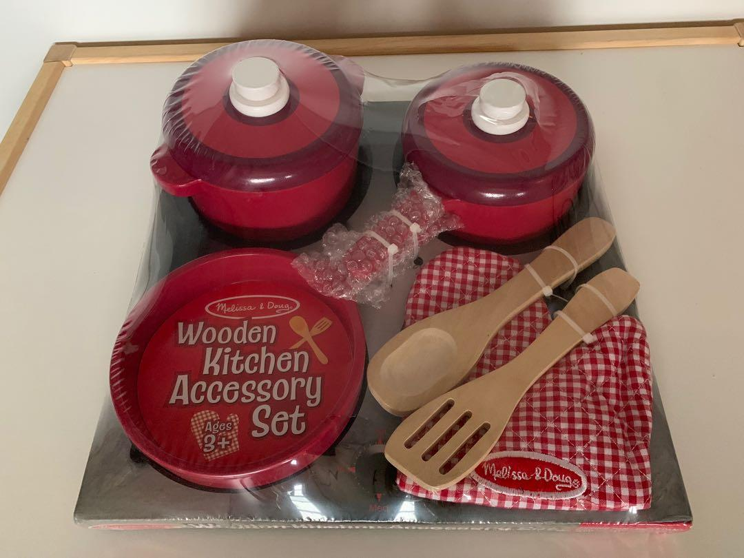 Melissa Doug Wooden Kitchen Accessory Set Cooking Toy Babies Kids Toys Walkers On Carousell