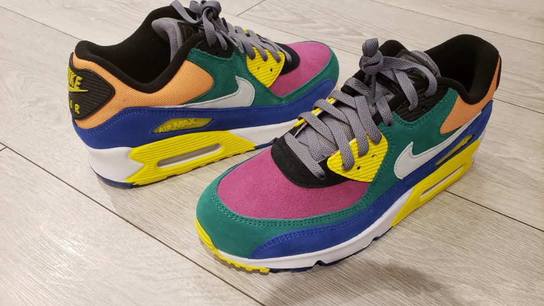 Nike, Air Max 90 QS Viotech 2.0 Suede, Canvas and Mesh Sneakers