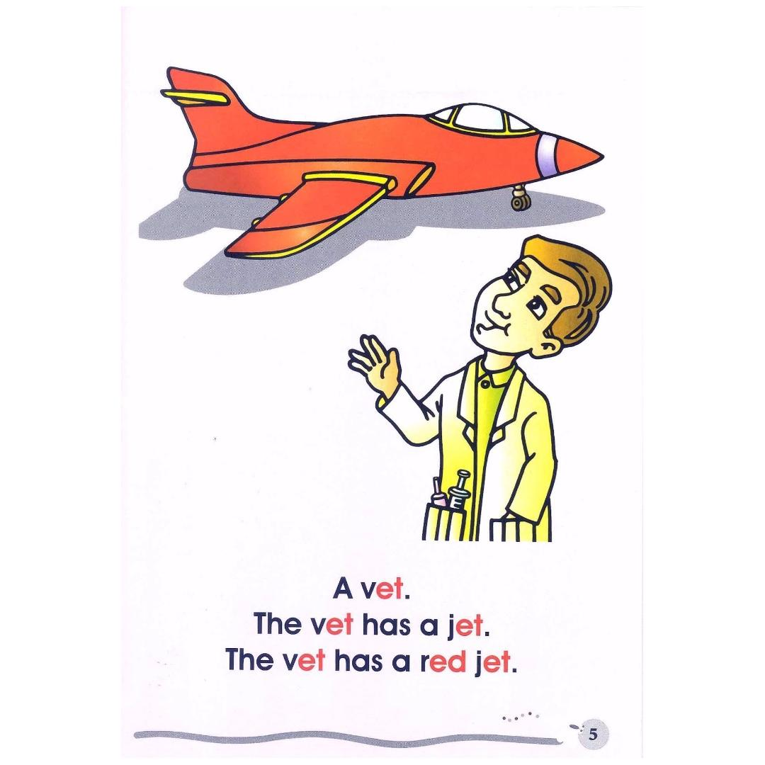 Phonics in Reading Series 1: Book 2 - Vet in a Jet & Ben and Red Hen   Children's Book   Early Readers