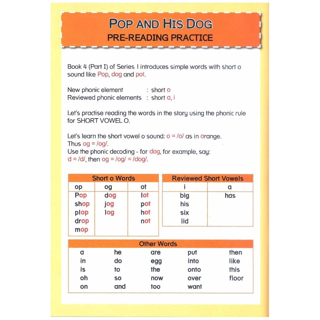 Phonics in Reading Series 1: Book 4 - Pop and his Dog & Fox in the Box   Children's Book   Early Readers