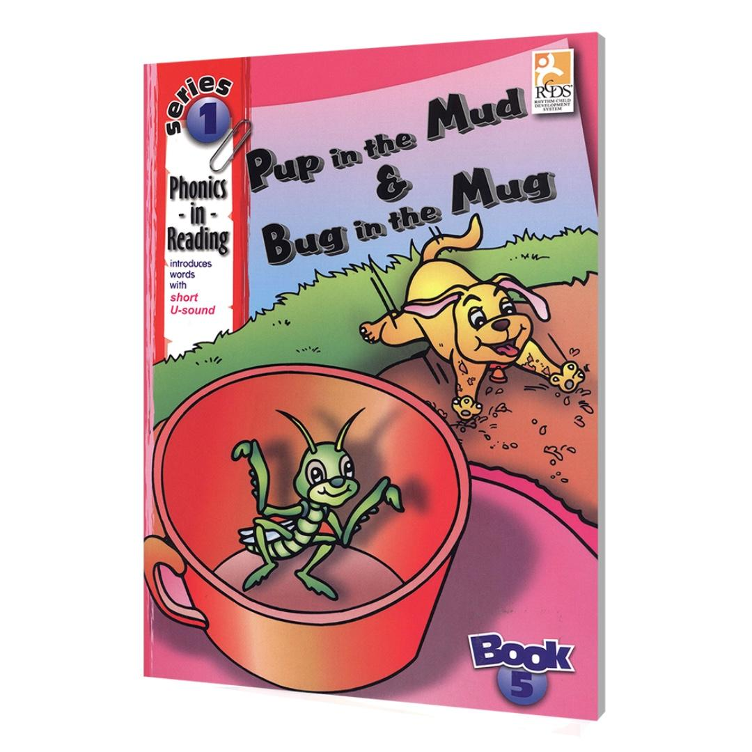 Phonics in Reading Series 1: Book 5 - Pup in the Mud & Bug in the Mug | Children's Book | Early Readers