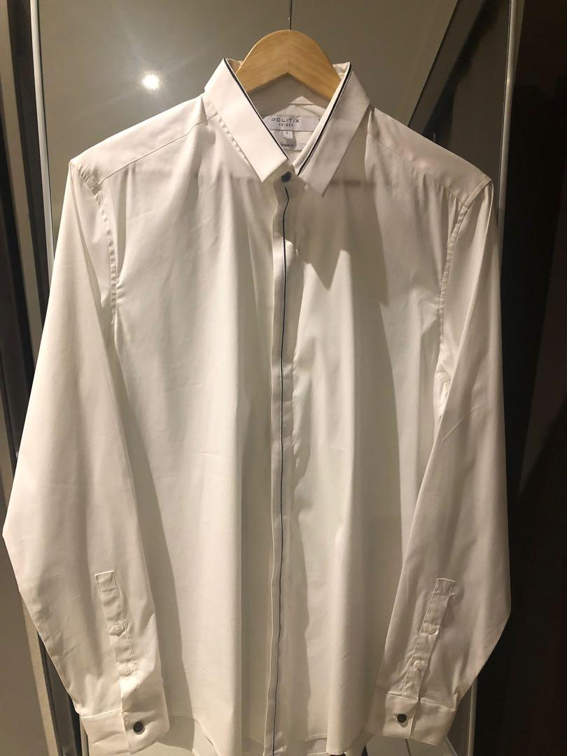 Politix White Shirt Worn Once  (more like a small)