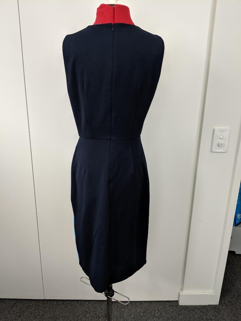 Saturday club - unique blue and white dress - AU XS