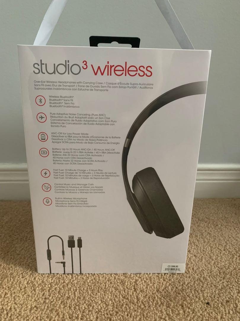 SEALED Beats studio 3 wireless headphones (matte black)