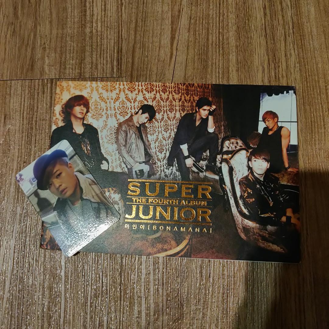 SUPER JUNIOR 4TH ALBUM BONAMANA KOREAN VERSION WITH SHINDONG PHOTOCARD