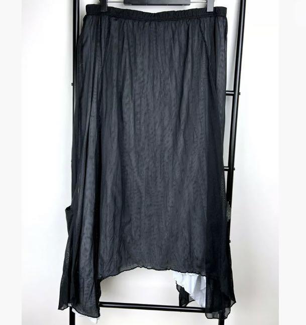 TS Taking Shape sz S/16 black grey midi skirt lagenlook plus size boho hippy