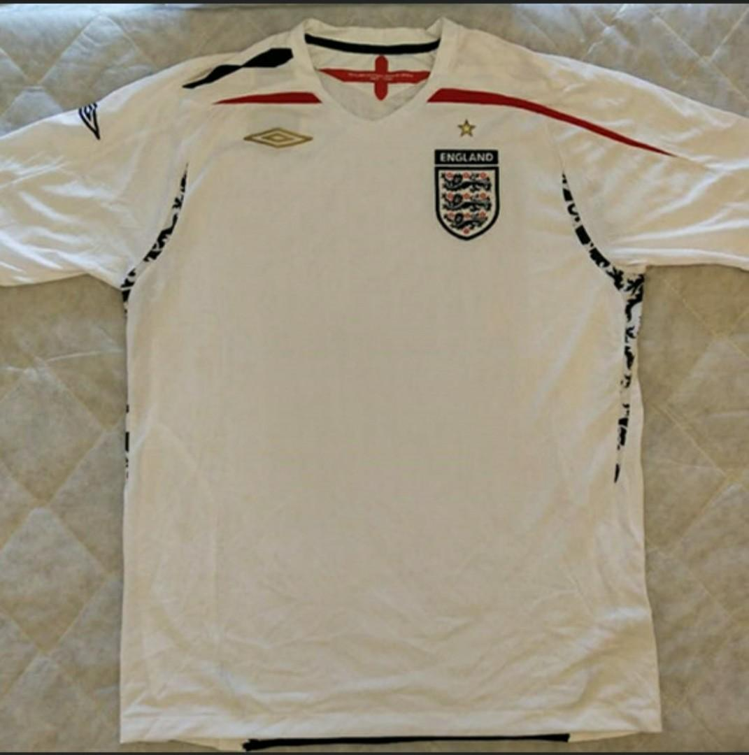 newest d7dd9 44dc7 Umbro England National Football Team Home Jersey 2007 ...