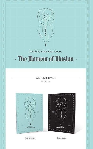 UP10TION - The Moment of Illusion - PREORDER/NORMAL ORDER/GROUP ORDER/GO + FREE GIFT BIAS PHOTOCARDS (1 ALBUM GET 1 SET PC, 1 SET GET 9 PC)