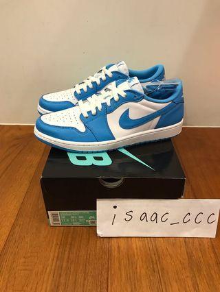 Nike Sb Air Jordan 1 Low QS 北卡藍 US10 全新台灣公司貨