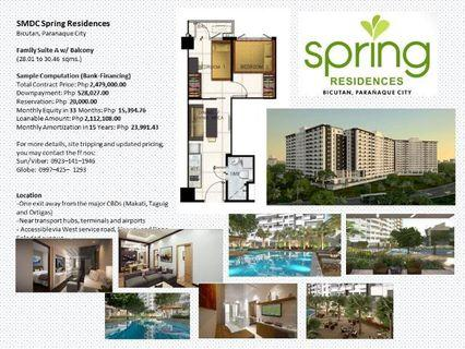 Spring Residences  50k Discount Affordable 2 Bedroom Ready for Occupa