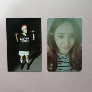 [WTS] f(x) krystal, amber photocards