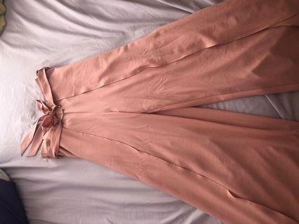 Never been used Pink wide leg pants with Tag
