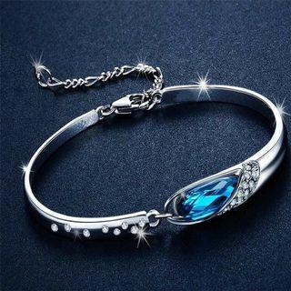 🚚 水滴 藍水晶鞋手鍊