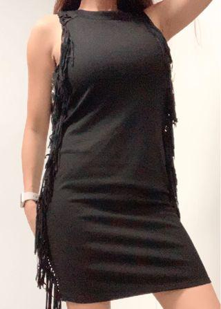 Clingy Black Party Dress