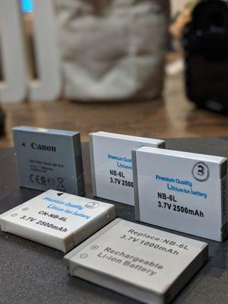 Canon NB-6L Batteries